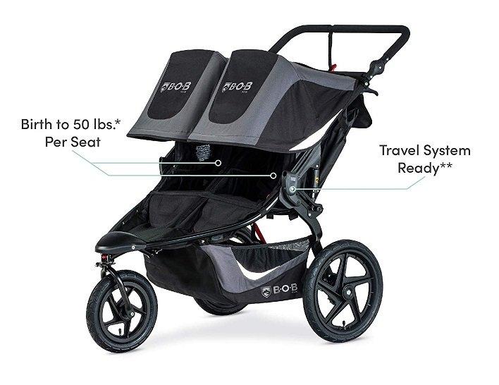 BOB Gear Revolution Flex Duallie Double Jogging Stroller