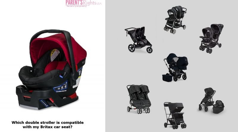 Britax Car seat and matching double strollers