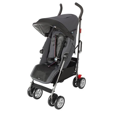 lightweight stroller with canopy and basket