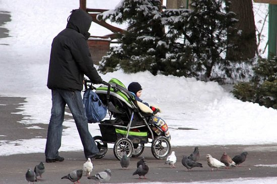 Stroller in places that snow