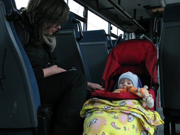 Stroller on public transport